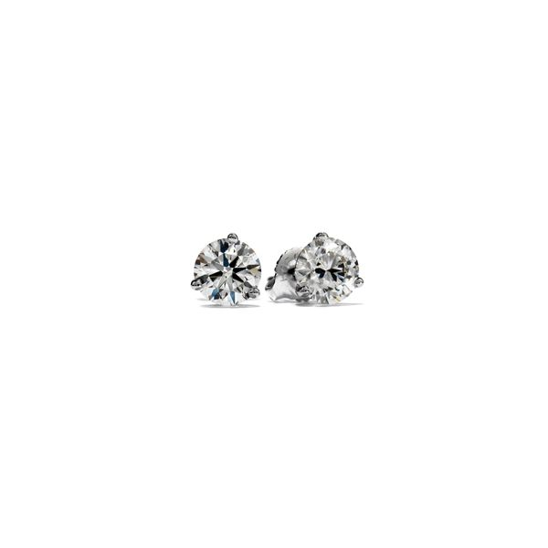 18k White Gold Hearts on Fire Stud Earrings Orin Jewelers Northville, MI