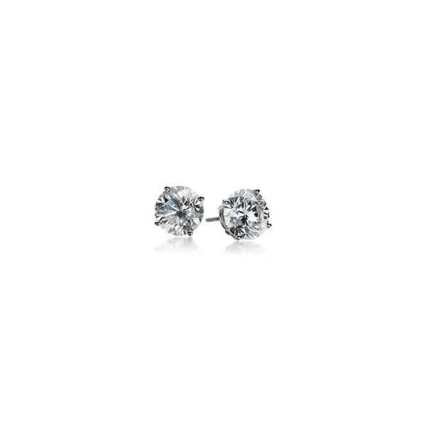 Lady's 14K White Gold Stud Earrings W/2 Diamonds Orin Jewelers Northville, MI
