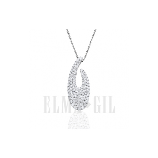 Lady's 18K White Gold Pendant W/107 Diamonds Orin Jewelers Northville, MI