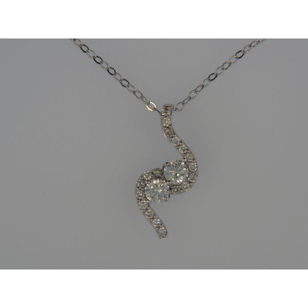 Lady's 14K White Gold Pendant w/20 Diamonds Orin Jewelers Northville, MI