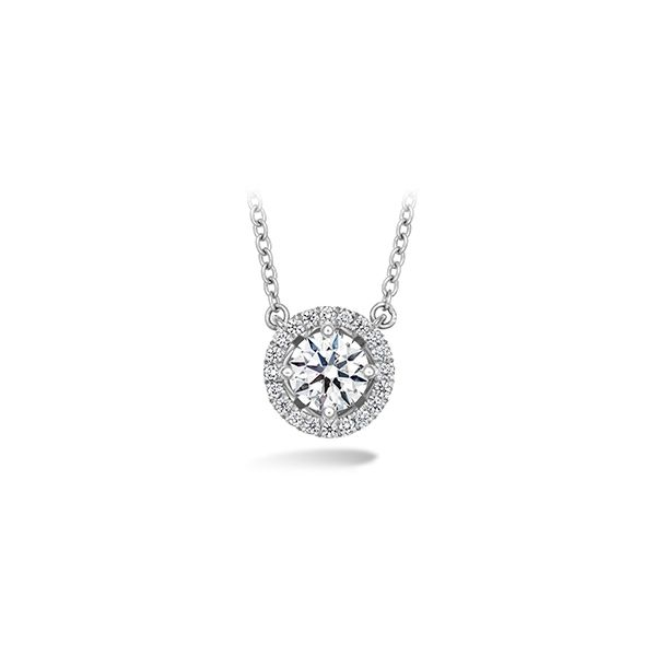 Lady's 18k White Gold JOY Pendant by Hearts on Fire With 15 Diamonds Orin Jewelers Northville, MI