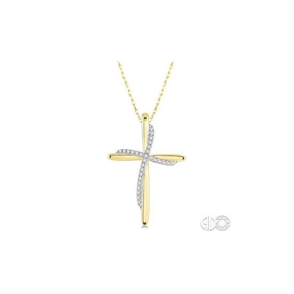 10k Yellow Gold Cross Pendant With 28 Diamonds Orin Jewelers Northville, MI
