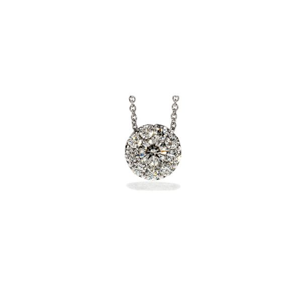 Lady's 18K White Gold Fulfillment Round Pendant w/11 Diamonds Orin Jewelers Northville, MI