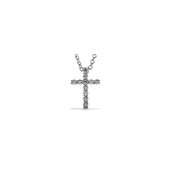 18k White Gold Diamond Cross With 11 Diamonds Orin Jewelers Northville, MI