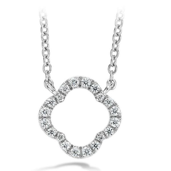 18k White Gold Signature Petal Pendant by Hearts on Fire Orin Jewelers Northville, MI