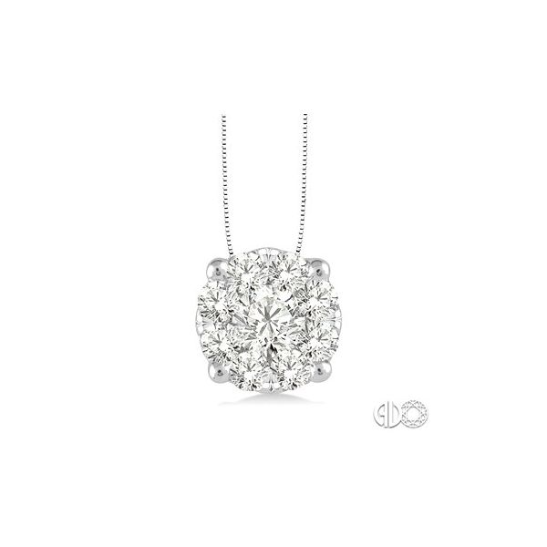14k White Gold Pendant With 9 Diamonds Orin Jewelers Northville, MI