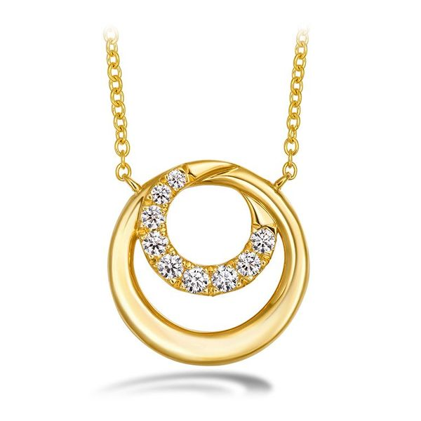 18kyg Optima Circle Pendant by Hearts on Fire With 9 Diamonds Orin Jewelers Northville, MI