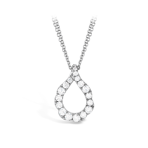 Lady's 18K White Gold Lorelei Crescent Diamond Pendant w/18 Diamonds Orin Jewelers Northville, MI