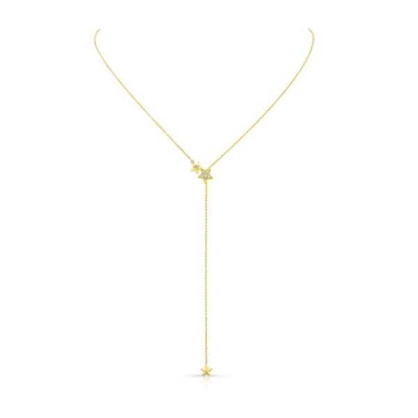 Lady's 14 Karat Yellow Gold Adjustable Star Necklace With 8 Diamonds Orin Jewelers Northville, MI