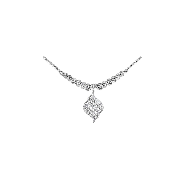 Lady's 18K White Gold Bellisimo Necklace w/192 Diamonds Orin Jewelers Northville, MI