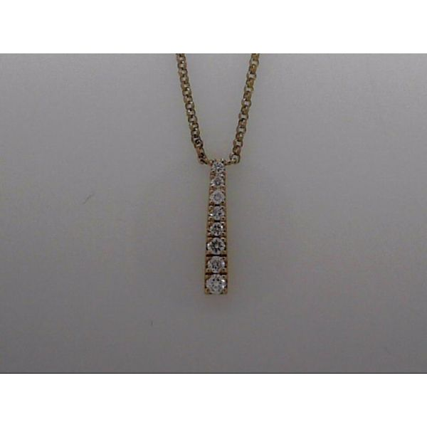 Lady's Yellow Gold 14 Karat Necklace With 8 Diamonds Orin Jewelers Northville, MI