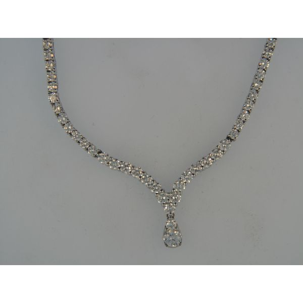 18k White Gold Necklace With 103 Diamonds Orin Jewelers Northville, MI