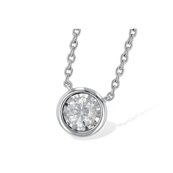14k White Gold Necklace With 1 Diamond Orin Jewelers Northville, MI