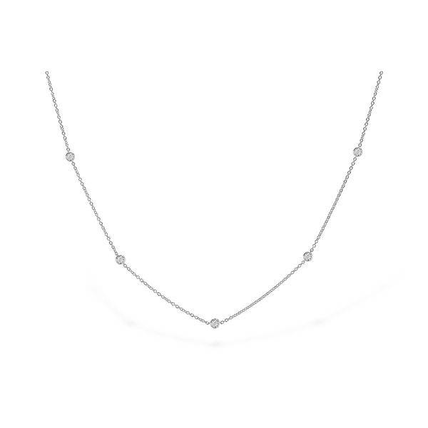 14k White Gold Necklace With 9 Diamonds Orin Jewelers Northville, MI