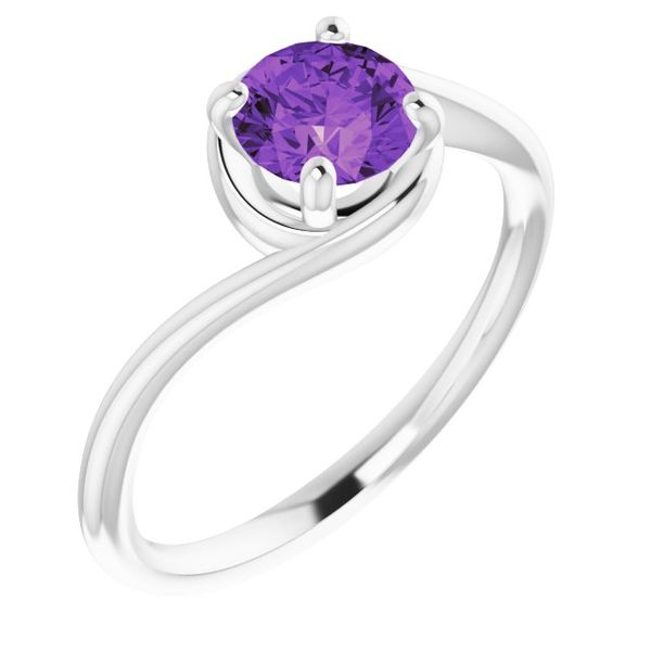 10k White Gold Amethyst Ring Orin Jewelers Northville, MI