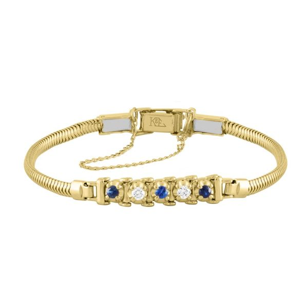 14k Yellow Gold Add-A-Link Bracelet With Sapphires & Diamonds Orin Jewelers Northville, MI