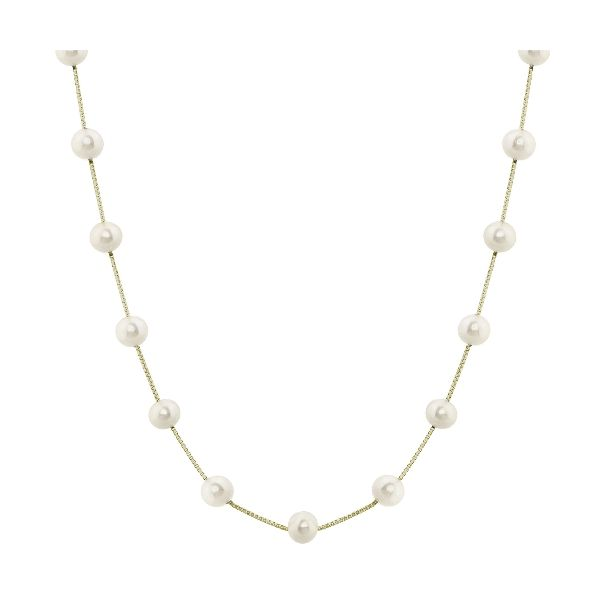 Lady's 14K Yellow Gold Necklace w/23 Freshwater Pearls Orin Jewelers Northville, MI