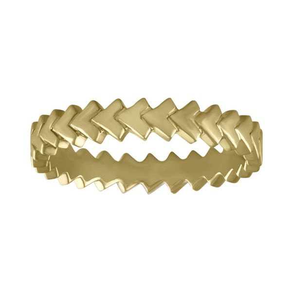 Lady's 14 Karat Yellow Gold Eternity Chevron Band Orin Jewelers Northville, MI