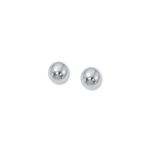 14k White Gold 7mm Stud Earrings Orin Jewelers Northville, MI