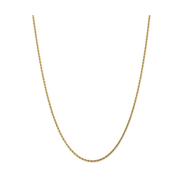 14k Yellow Gold Rope Chain, 36