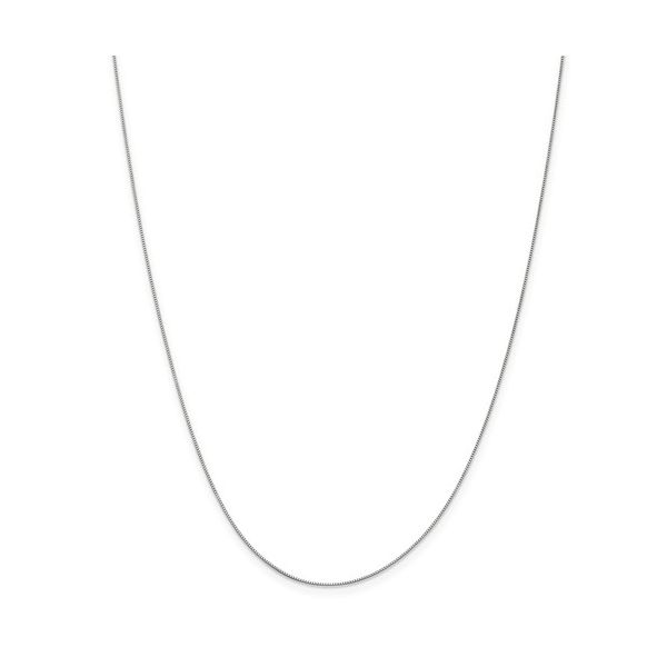 14k White Gold Box Chain With Lobster Claw Clasp, 18