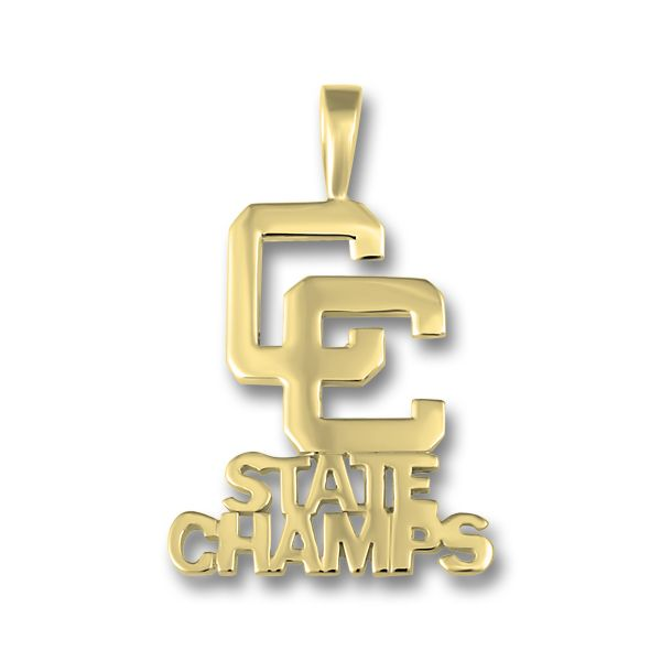 Yellow Gold CC State Champs Pendant Orin Jewelers Northville, MI