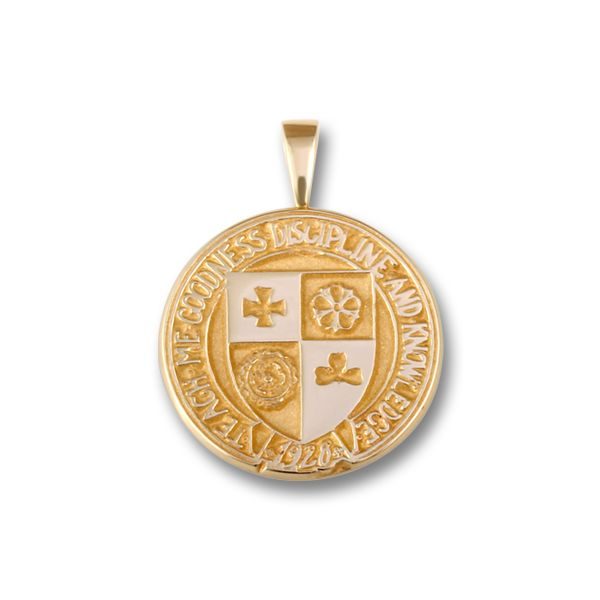 10k Yellow Gold CC Crest Pendant Orin Jewelers Northville, MI
