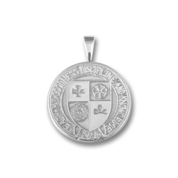 Sterling Silver CC Crest Pendant Orin Jewelers Northville, MI