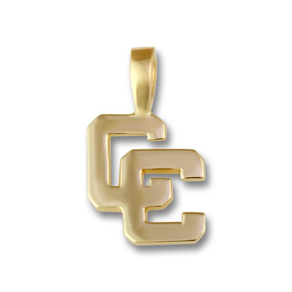 Yellow Gold Large Block CC Pendant Orin Jewelers Northville, MI