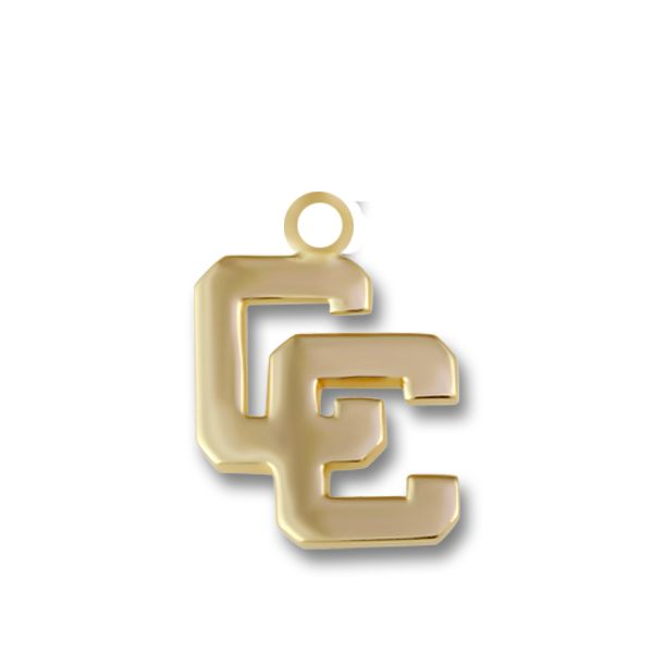 Yellow Gold CC Mini Block Charm Orin Jewelers Northville, MI