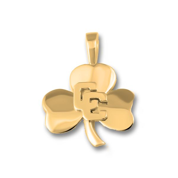 10k Yellow Gold CC Shamrock Pendant Orin Jewelers Northville, MI
