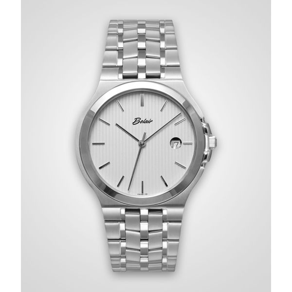 Gent's Stainless Steel ORIN Watch With White Dial Orin Jewelers Northville, MI