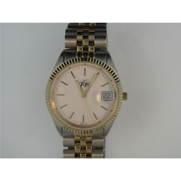 Gent's ORIN Two Tone Stainless Steel Dress Watch, White Dial Orin Jewelers Northville, MI