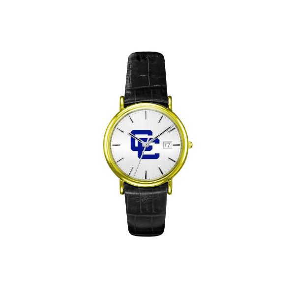CC Watch w/CC Logo Dial, Yellow Case & Black Strap Orin Jewelers Northville, MI