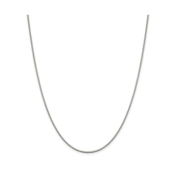 Sterling Silver Rhodium-Plated 1.4mm Box Chain Orin Jewelers Northville, MI
