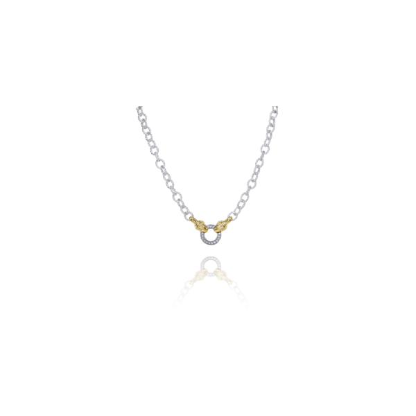 Lady's Two Tone Sterling Silver & 14K Yellow Gold Chain Orin Jewelers Northville, MI