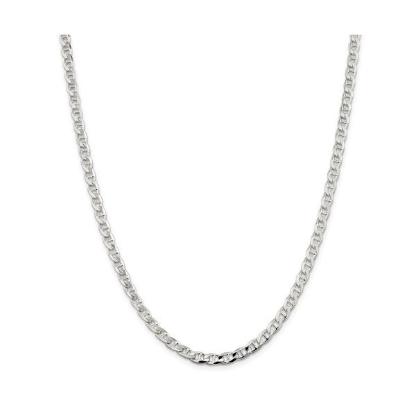 Sterling Silver Flat Anchor Chain, Length 20