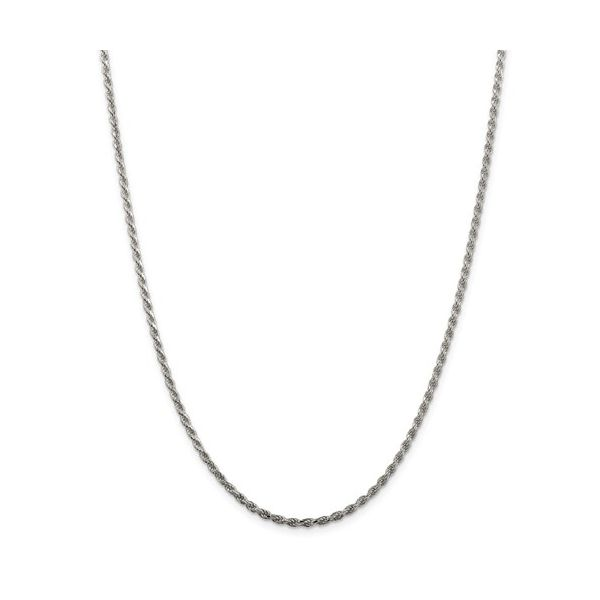 Sterling Silver Rope Chain Length 20