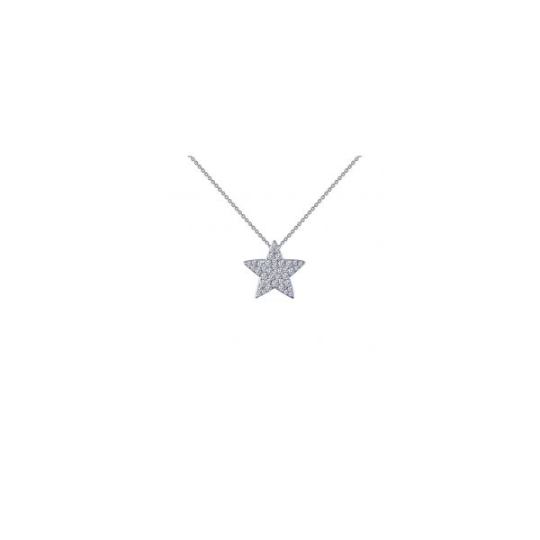 Sterling Silver With Rhodium Plating Star Pendant With CZs by Lafonn Orin Jewelers Northville, MI