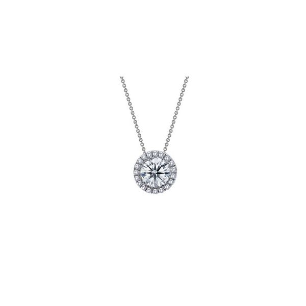Sterling Silver Round Shape Halo Pendant With CZs Orin Jewelers Northville, MI