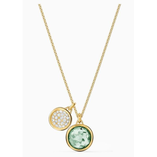 Swarovski Tahlia Set, Green, Gold-Tone Plated Orin Jewelers Northville, MI