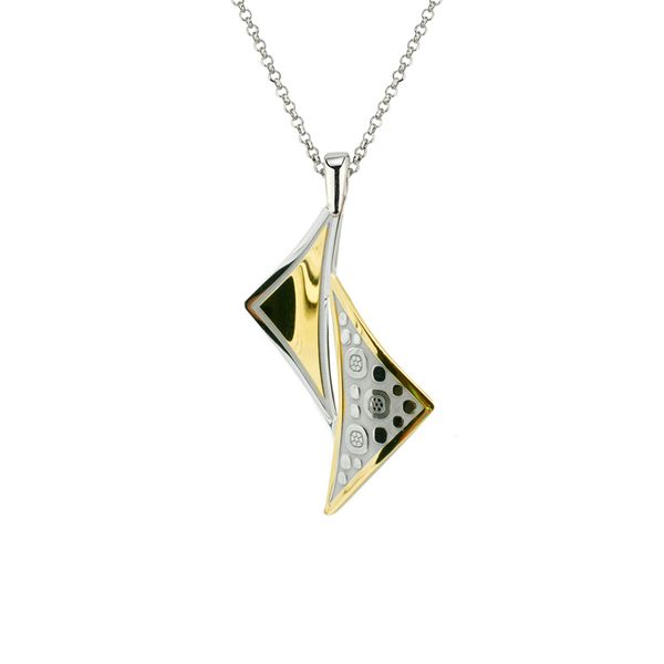 Sterling Silver & Yellow Gold Plated Pendant Orin Jewelers Northville, MI