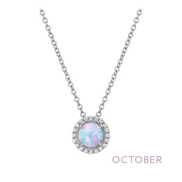 Sterling Silver Simulated Opal & CZ Pendant Orin Jewelers Northville, MI