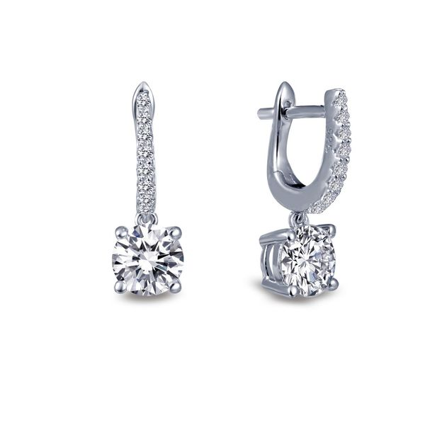 Sterling Silver Earrings With CZ's Orin Jewelers Northville, MI