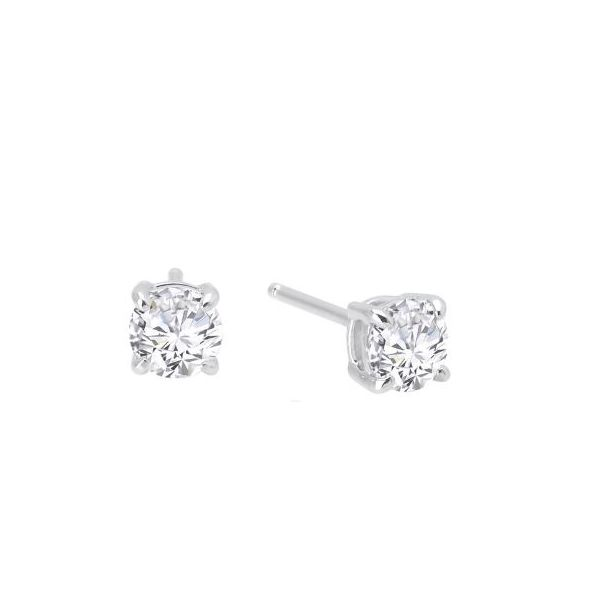 Lady's Sterling Silver Earrings With 2 CZ's Orin Jewelers Northville, MI