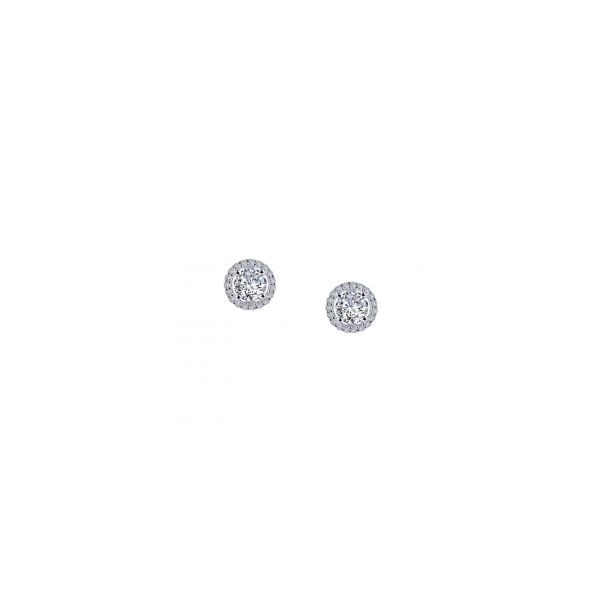 Sterling Silver Round Shape Halo Stud Earrings Orin Jewelers Northville, MI