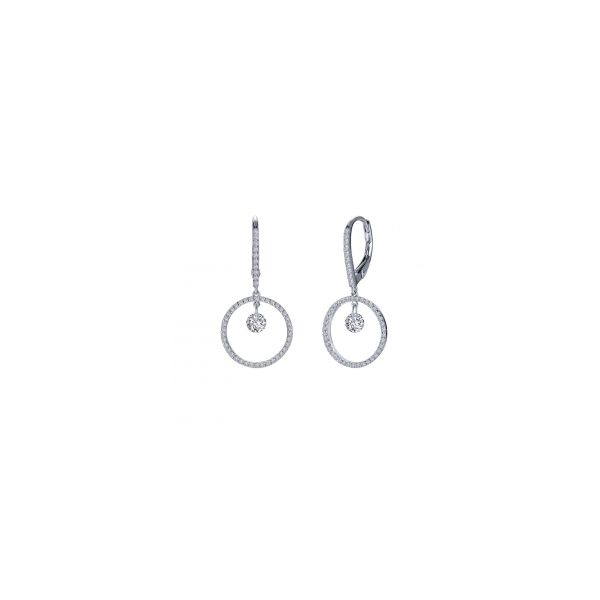 Lady's Sterling Silver Circle Dangle Earrings Orin Jewelers Northville, MI