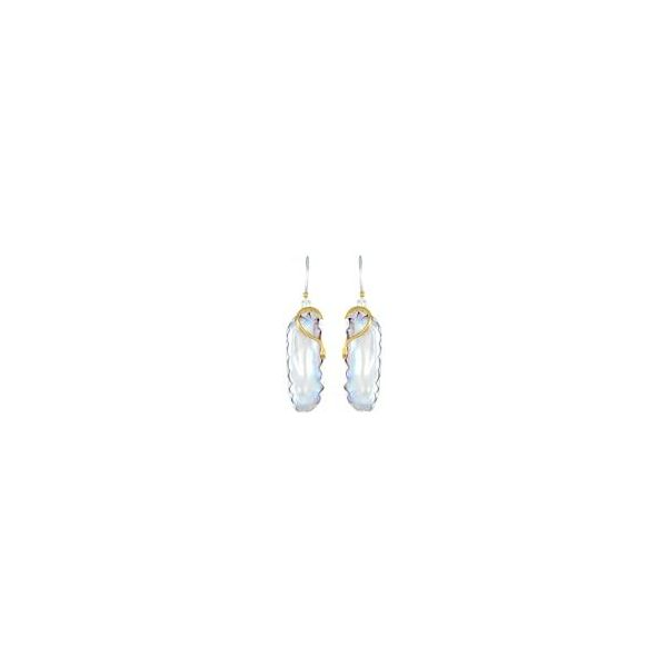 Sterling Silver & 22k Gold Vermeil Earring with White Freshwater Pearls Orin Jewelers Northville, MI