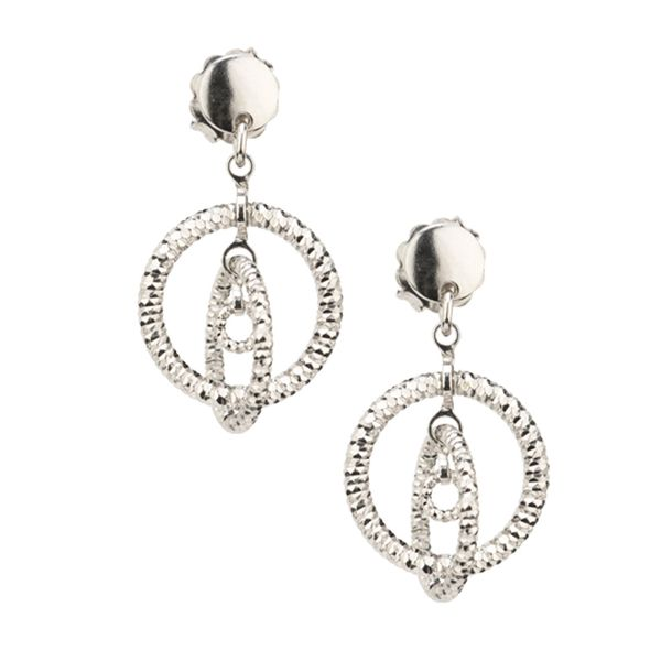Lady's Sterling Silver Sparkle Connections Earrings Orin Jewelers Northville, MI