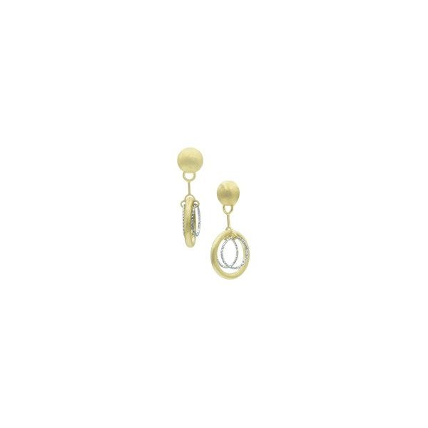 Sterling Silver And Yellow Gold Plated Posh Earrings Orin Jewelers Northville, MI